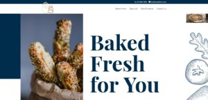 image of bakers website