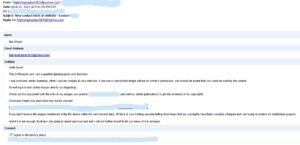 Copy Right Infrgement Phishing Scam bogus email